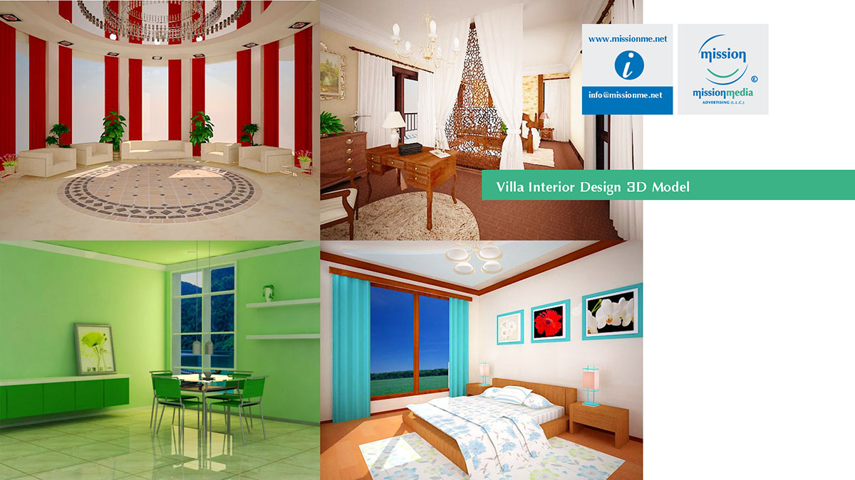 10 Mission 3D Villa Interior Design