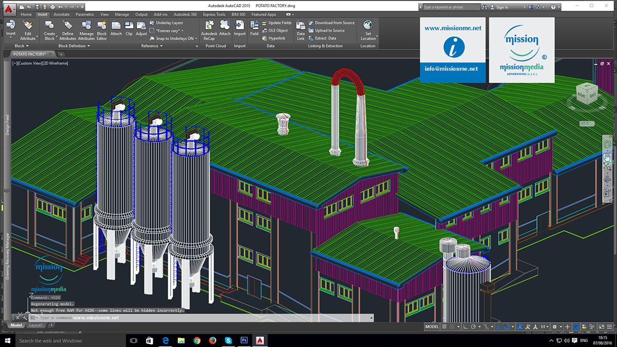 13 Mission 3D ACAD Design POTATO FACTORY